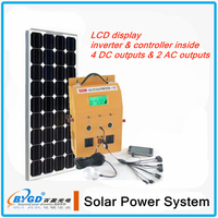 solar panel roof mount system, 500w solar power system with LCD disply factory direct sale (BYGD-500Y)