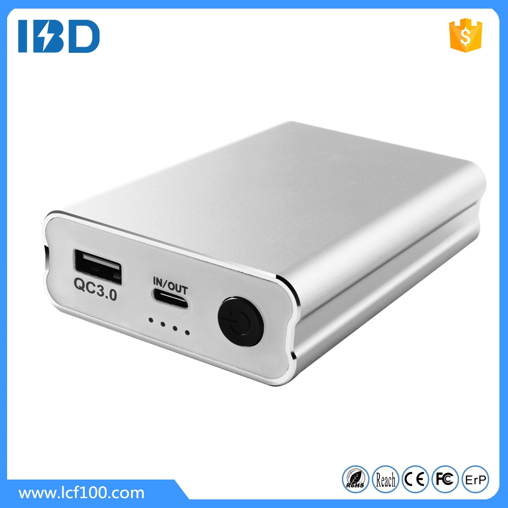 IBD 2016 unique design slim power bank portable charger 10000mAh with type-c input and output for mobile phone