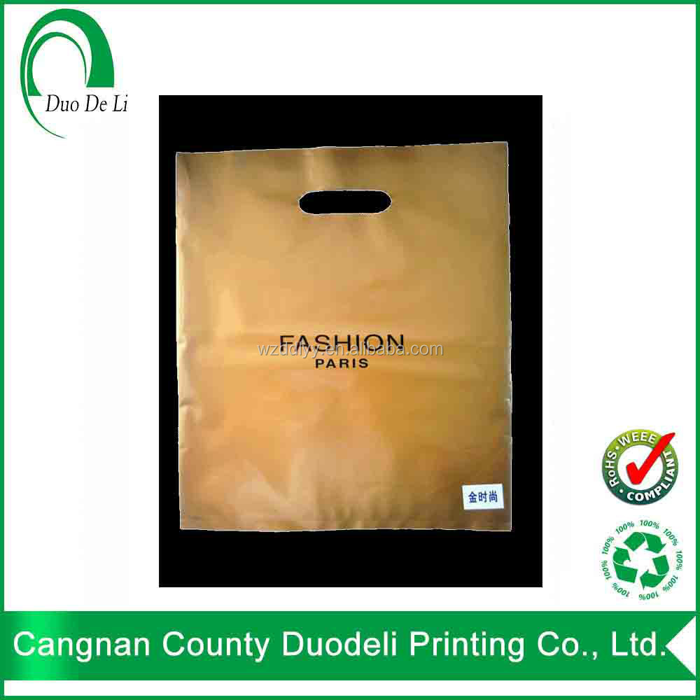 Shopping Die Cut Handle LDPE/ PE Carrier Plastic Bags with Custom Logo