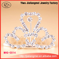 Beauty bridal/tiaras cheap wedding crystal glass pageant queen crown