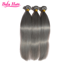 grey remy human hair weave straight brazilian hair weave