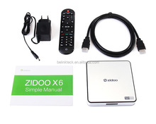 China factory cheapest RK3368 2GB RAM 16GB ROM Android TV Box Zidoo X6 Pro With kodi fully loaded