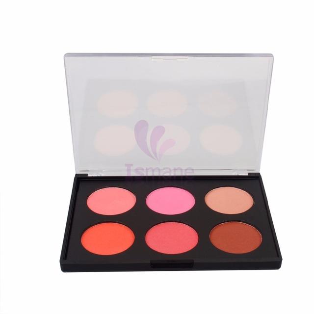 6 Color cheek blush powder la femme cosmetics wholesale pink powder compact private label blush