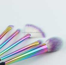 5 PCS/SET New Rainbow Makeup Brushes Set High Quality Colorful Make Up Brushes Portable Makeup Tools