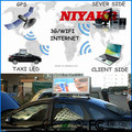 niyakr high quality xxx video wireless 3g/wifi/gps/usb led display open sex video taxi advertising player