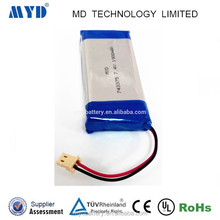 China supplier Graphene cell 743375 7.4v 1900mah rechargeable lipolymer battery