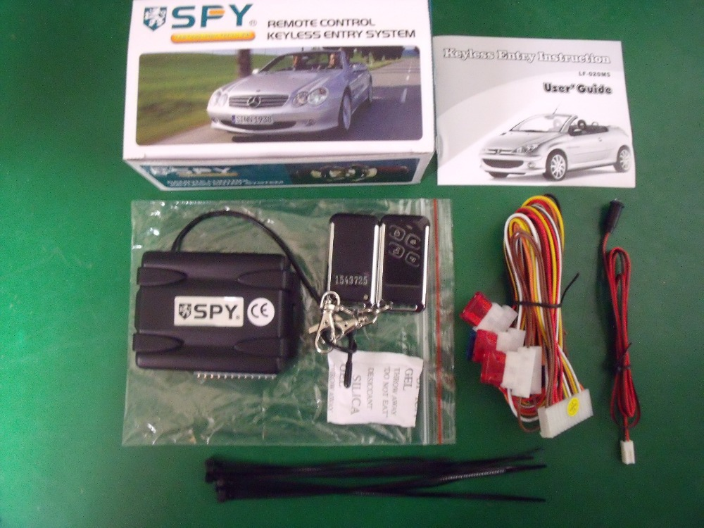 SPY one way car alarm 4button remote control keyless entry system