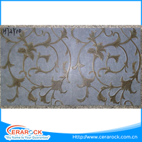 Latest design flower pattern ceramic inkjet glazed floor tile 300x300mm for decorative bathroom