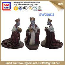 catholic religious items and resin religious king statue and religious figurines for souvenir