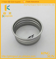 Wholesale anodized cosmetic hair wax jar caps