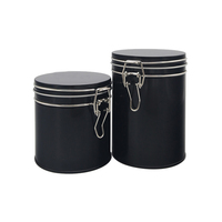 Wholesale Top Quality Lock Top Black Airtight Round Tin Can