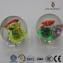 55/65/75/85/90mm diameter bouncing ball with watkins, flashing and led cute light toy, crystal ball, water ball for kids