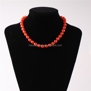 Latest design coral beads necklace choker necklace jewelries women