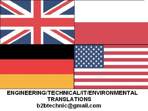 Engineering translations, English, German, Polish, certificate, 12 years experience