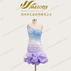 Colorful one shoulder slim-line waistline pleats ruching sequins rhinestone cocktail dress