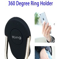 2016 New Products 360 Degree Rotating Ring Finger Grip Mobile Phone Holder for Smartphones