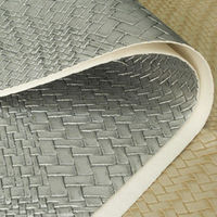 100% pu embossed polished woven pattern leather raw material for handbags and notebook