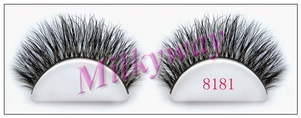 Milkyway thick double 100% real horse false eyelashes 8181