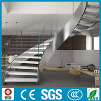 Decorative modern steel wood curve/acr stairs Chinese supplier-YUDI