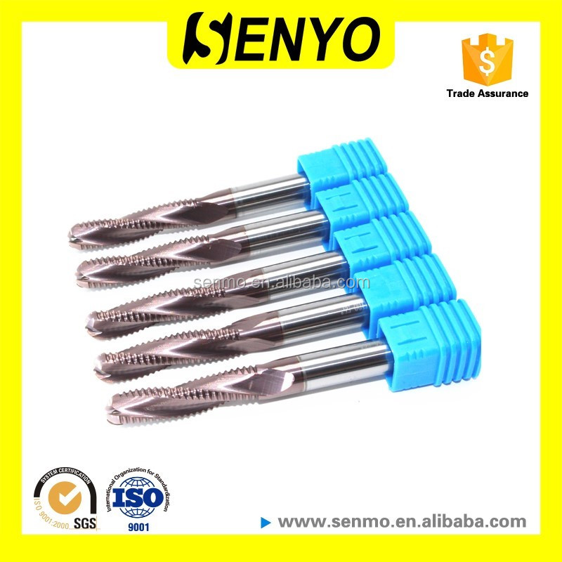 Senyo High Quality Carbide Altin End Mill Cutter Roughing For Wood