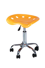 Cheap Colorful Hot Sale Pretty ABS Plastic Adjustable Swivel Bar Stool With Wheel