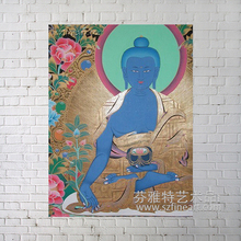 Trend 2016 canvas handmade art buddha face oil painting