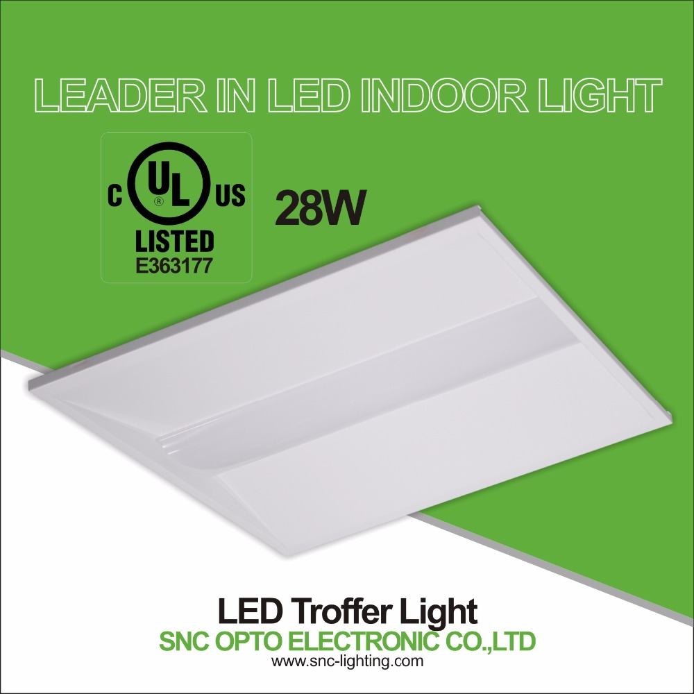 SNC High quality LED TROFFER LIGHT 28W 2ft*2ft Indoor led light Ac 100-277v 2835 led chips