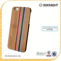 Back For Apple iPhone Hybrid Skin Hard Wood Case For Iphone6 Plus Protector Case Cover Pattern