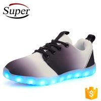 Bulk Wholesale Walking Shoes Non Slip Casual Led Light Shoes For Men