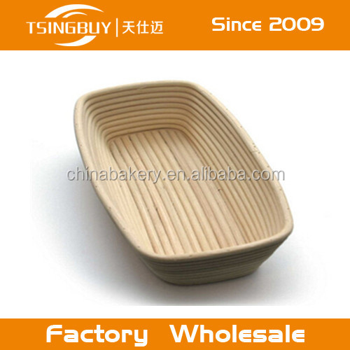 Eco-friendly hot selling handmade rattan rectangle bread proofing baskets/bread banneton baskets/berndes