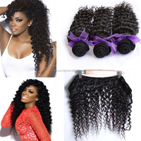 2016 New Arrival Top 7A Deep Wave 26 Inch 3Pcs Lot Wet And Wavy Indian Remy Hair Weave