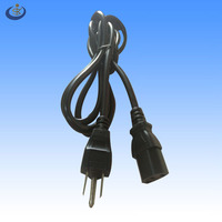 UL&CSA approval USA nema 5-15 P power cord to IEC 320 C13 end type for home appliance