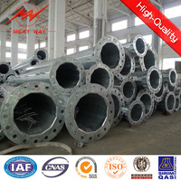 33KV hot dip galvanized wooden electrical poles electricity transmission