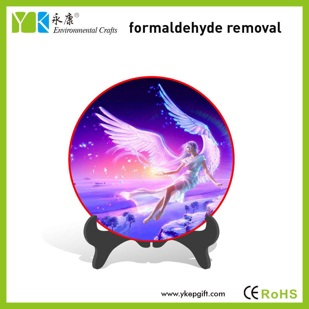 Europe style elegant decorative plate hand painted wedding decorations flying flitter fairy