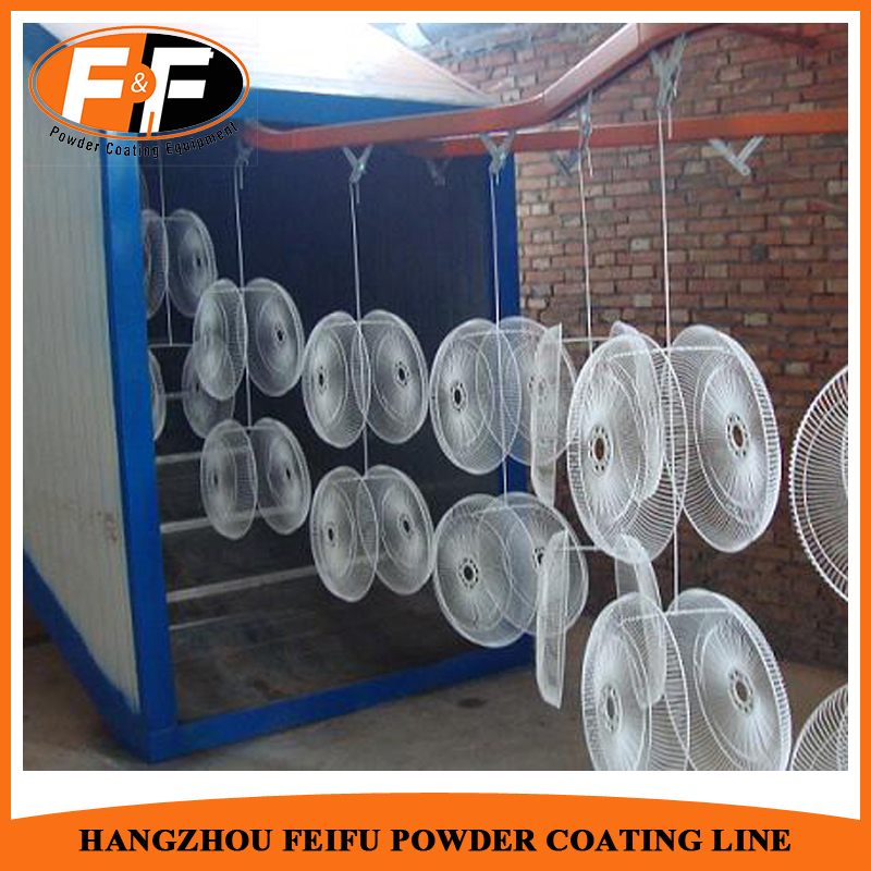 Electric Fan Continuous Powder Coating Plant Equipment