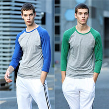 New Style Contrast Color Men Long Sleeve Shirts Basketball Activewear Sport Wear