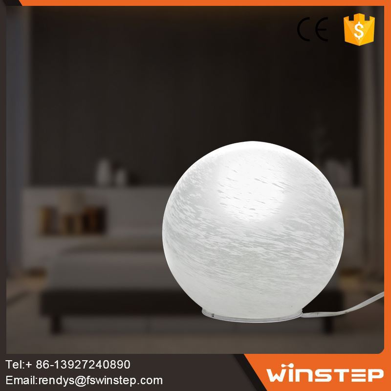 European Style 15W white glass wholesale table lamps for bedroom lighting