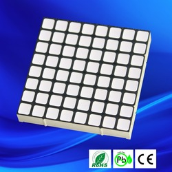 Square dot 5mm bicolor led matrix 8x8 dot matrix dual color