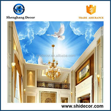 3d Wall Murals beautiful ceiling Wallpaper for wedding decoration with sky design pattern