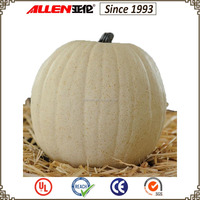 "8.5"" inch new resin thanksgiving artificial white pumpkin"