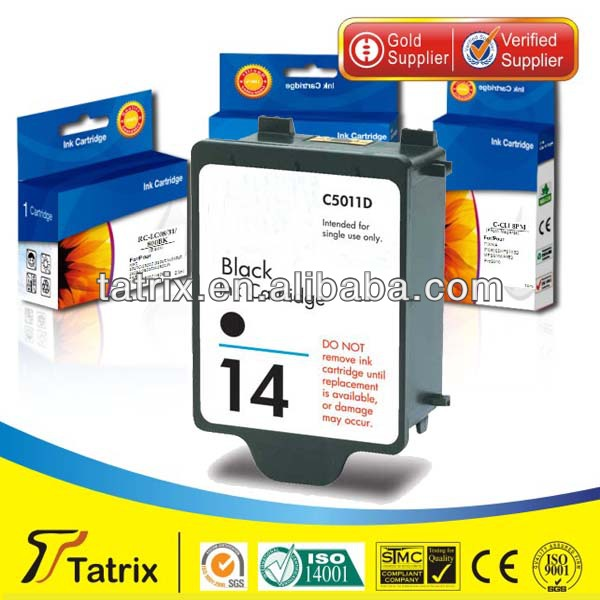 for HP 14 Ink Cartridge , 14 Ink Cartridge for HP , With Triple Quality Tests.