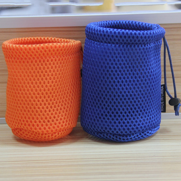 hot sale custom ventilate drawstring air mesh bag for speaker