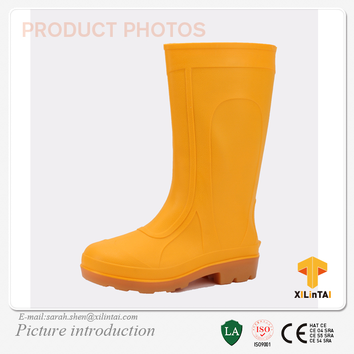 Durable Colorful PVC Work Boots for Women