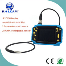 3.5 inch screen portable video borescope for mechanical and aviation inspection using