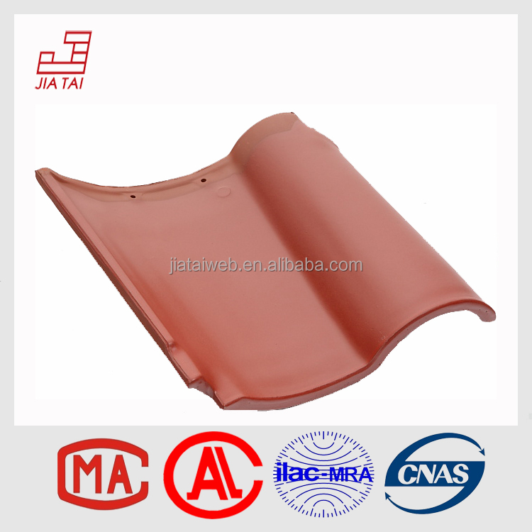 RS-822 Red color glossy waterproof Spanish clay roof tiles