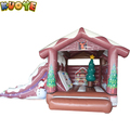 2017 hot same high quality inflatable Christmas bouncy castle slide