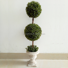 Good quality Plastic Artificial Double Boxwood Topiary