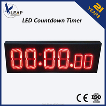 6 hours recharging time LED clock timer display board/bank interest rate display board