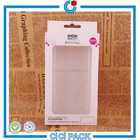 paper packaging box with splashproof window for mobile phone case