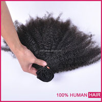 wholesale 100% full cuticle stay machine sew in weft fast shipment afro curly hair extension weft
